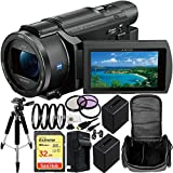 Sony FDR-AXP55 (PAL) 4K Ultra HD Handycam Camcorder with 32GB Bundle 13PC Accessory Kit