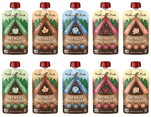 Munk Pack Oatmeal Fruit Squeeze | Variety Pack, Ready-to-Eat Oatmeal On The Go, 4.2 oz, 10 Pack (Pack Ready)