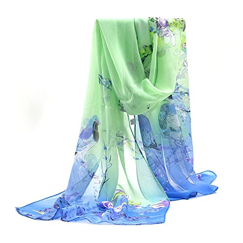 Sanwood® Ladies Chiffon Scrawl Flower Printed Wrap Scarf