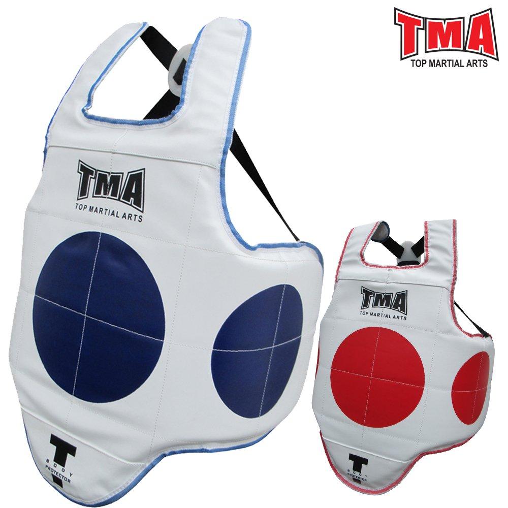 TMA Martial ArtsボディプロテクターTae Kwon Do MMAキックボクシング(リバーシブル) B07BMGMRKJ  S/M