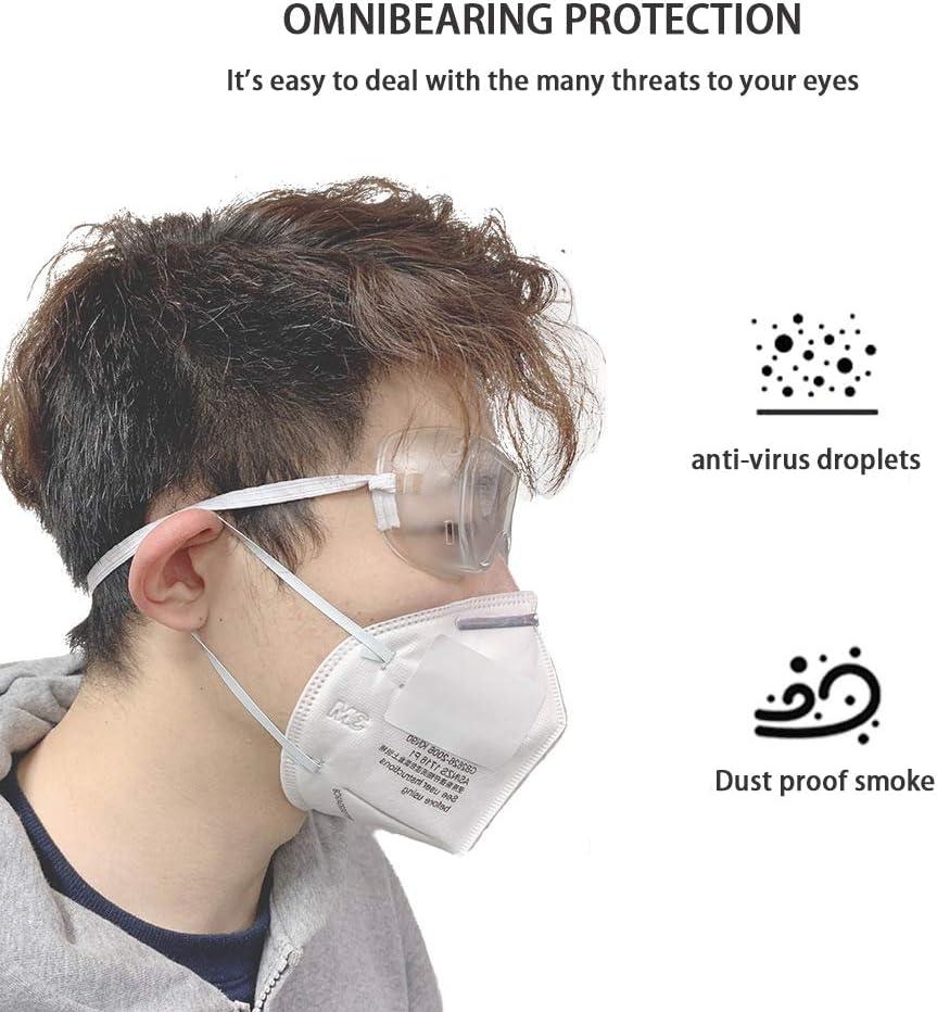 5 Pack Cubregafas Protectoras protecci/ón para los Ojos moliendas m/édicos Laboratorios Gafas Protectoras de Seguridad Gafas Transparentes antivaho y antiara/ñazos Trabajos de Bricolaje