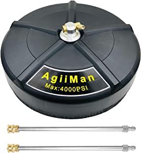 AgiiMan Pressure Washer Surface Cleaner - 16'' Power Washer Attachments, 15-inch Gas Pressure Washer Surface Cleaning Tools, 4000 PSI
