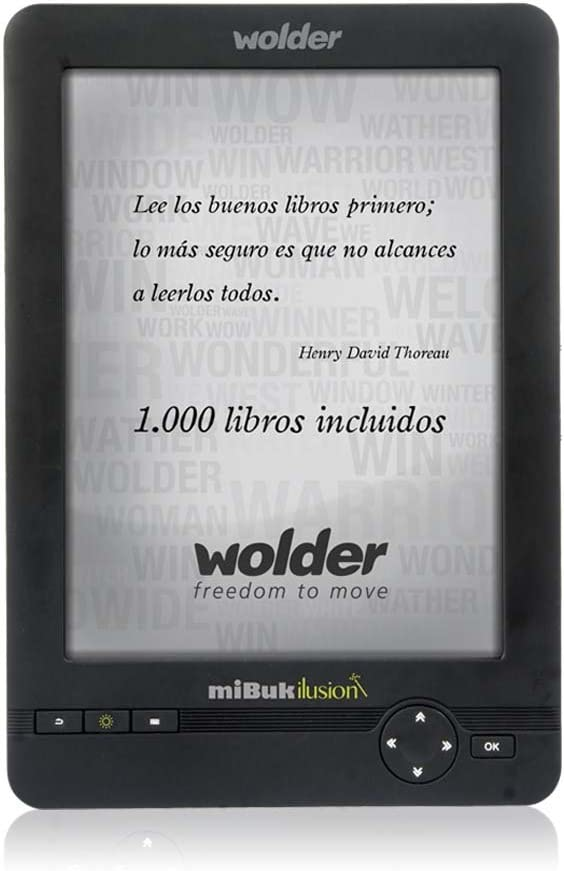 Wolder miBuk ILUSION - Libro electrónico E-Reader miBuk Ilusion 6 ...