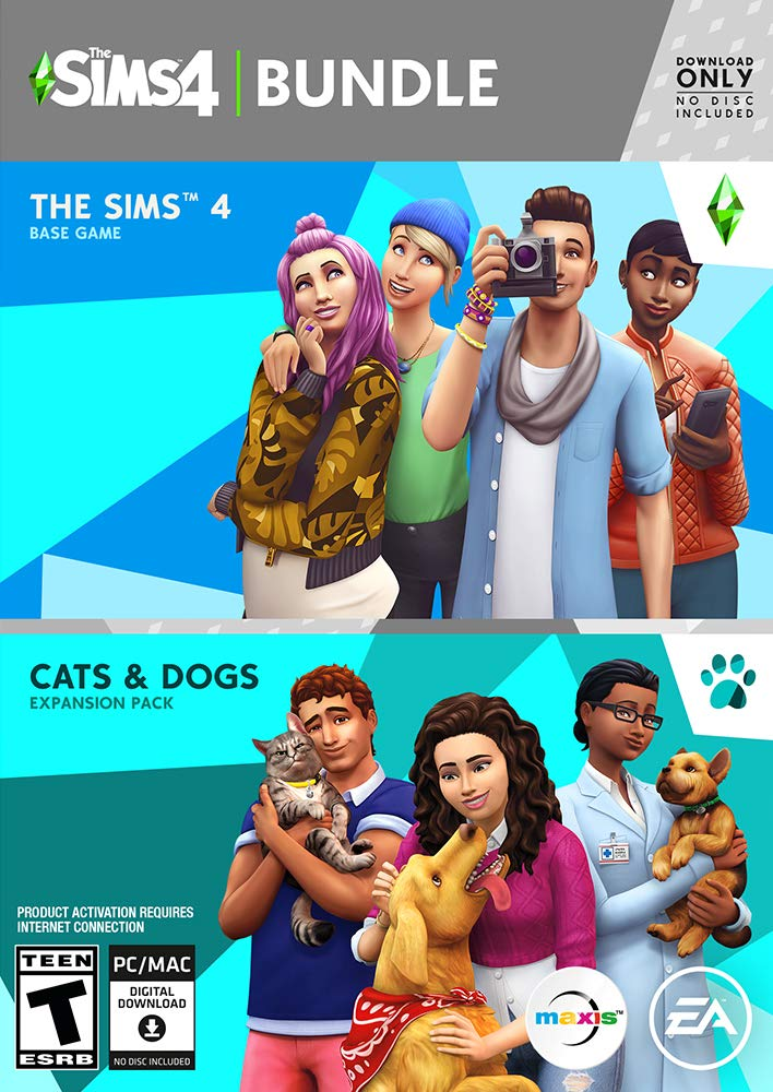 The Sims 4 - Plus Cats & Dogs Bundle [Online Game Code]