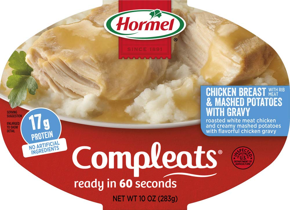 Hormel Compleats Chicken Breast with Rib Meat and Mashed Potatoes with Gravy, 10 Ounce