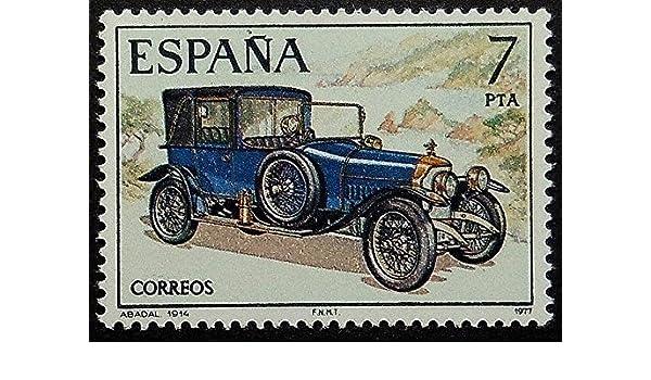 Vintage coche Abadal 1914 España – diseño de postal Arte 18600: Amazon.es: Hogar