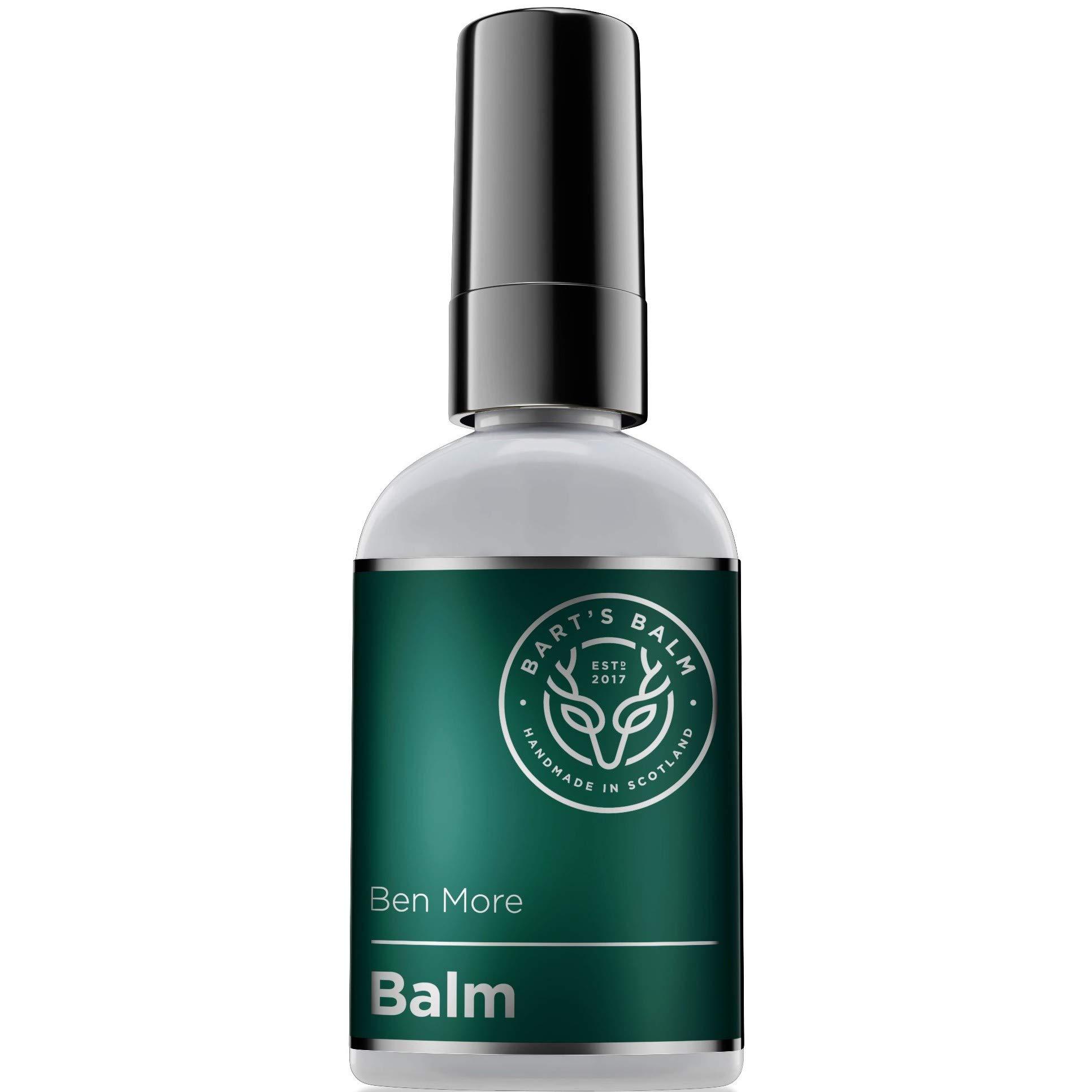 Bart's Balm Men Aftershave Balm - Argan Oil – Bergamot Oil 50ml - Sensitive Post Shave Balm Men