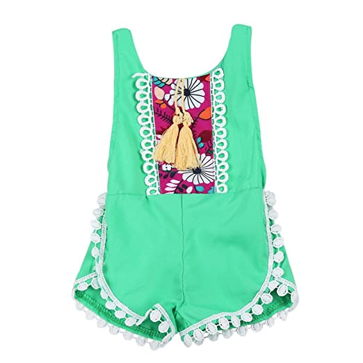 989dba730 Amazon.com  Sunward Summer Infant Kids Baby Girl Summer Bodysuit ...