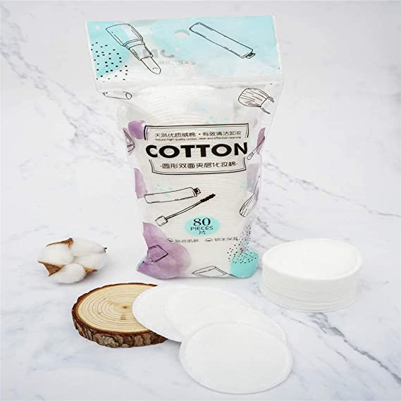 02 100/% coton Naturel Onlyoily Lot de 222 non-pelucheux Tampons de coton Double Face Maquillage Coton pour le visage retrait de maquillage et vernis /à ongles