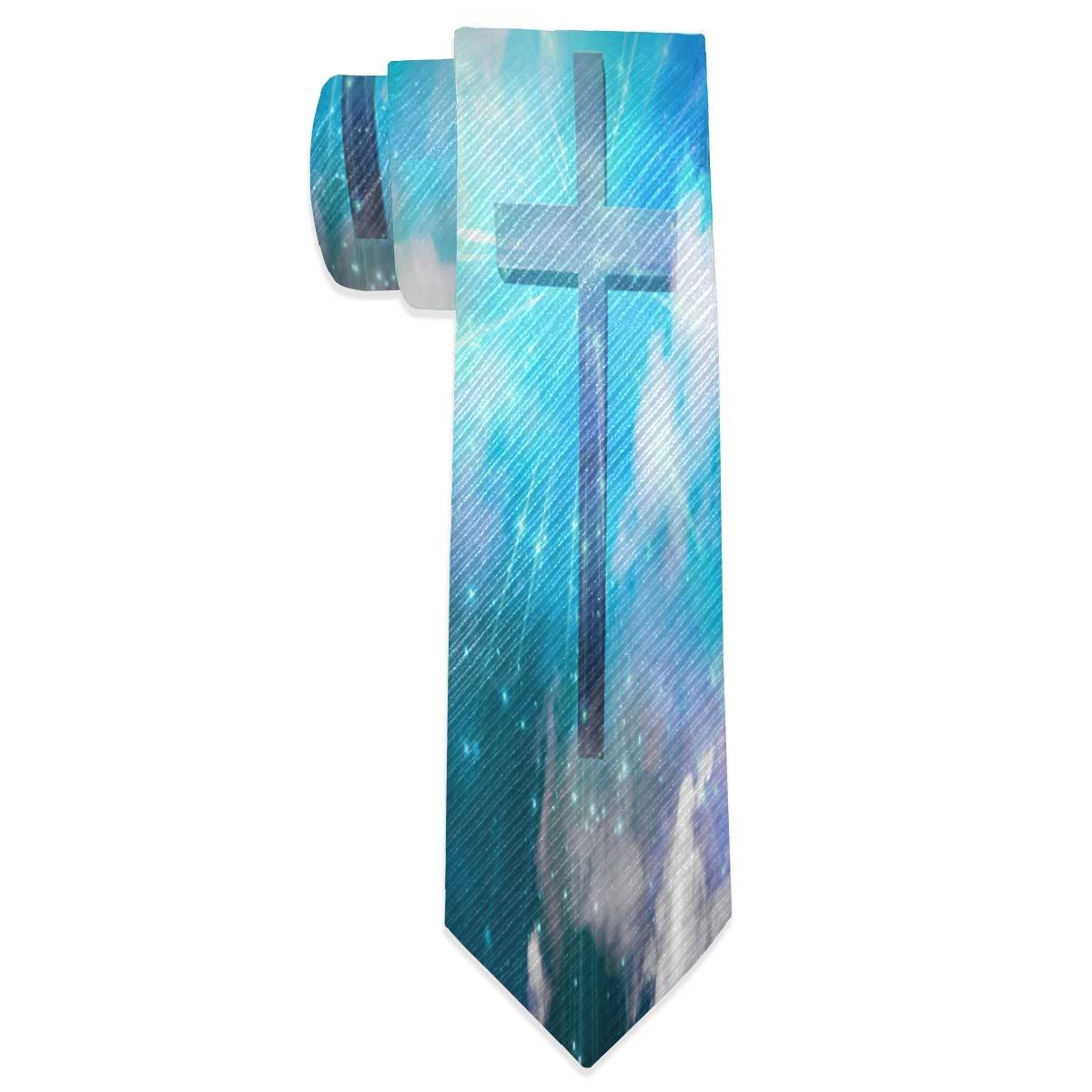 Wamika Christian Cross - Corbata para hombre (tejido jacquard ...