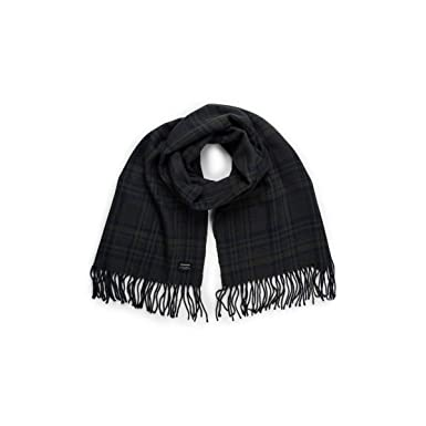 Jack   Jones Sciarpa Checked Uomo Blu Fantasia scozzese con frange  12140331  Amazon.co.uk  Clothing 91ab38732ebc