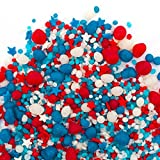 Patriotic Candy Sprinkles | Candyfetti | 8oz Jar | Red White and Blue | Edible Confetti | MADE IN THE USA!