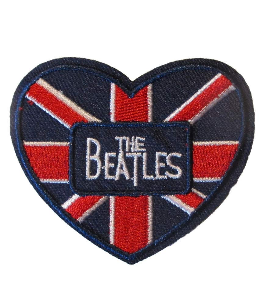hotrodspirit Parche del Grupo The Beatles Coraz/ón UK 6 x 7 cm Rock Roll Parche termoadhesivo