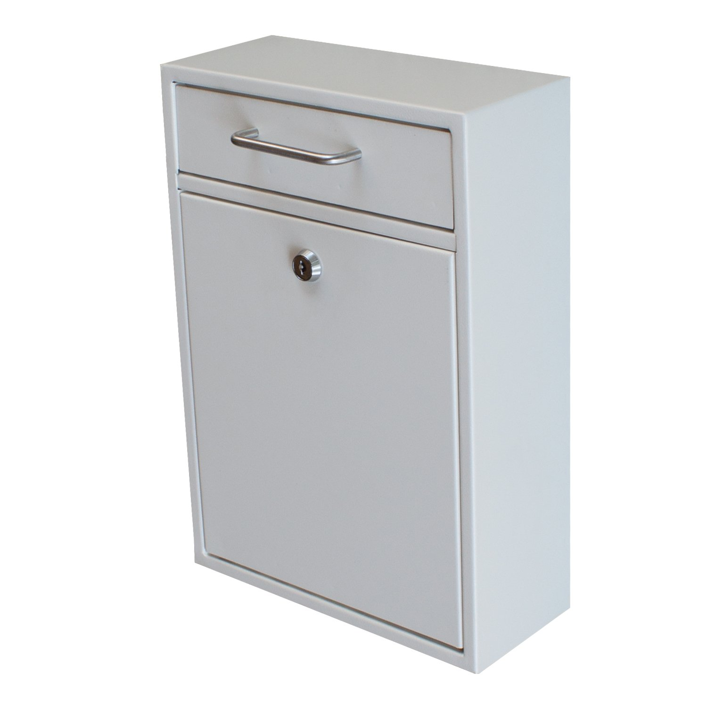 Epoch Design Locking Drop Box Wall Mounted Mailbox, White ...