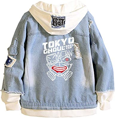 Gumstyle Tokyo Ghoul Kaneki Ken Anime Denim Hoodie Jacket Adult