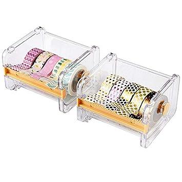 2pcs homdsim cinta adhesiva dispensador cortador, rollo de cinta Holder Organizador, cinta de carrocero cinta de escritorio DIY adhesivo rollo cinta ...