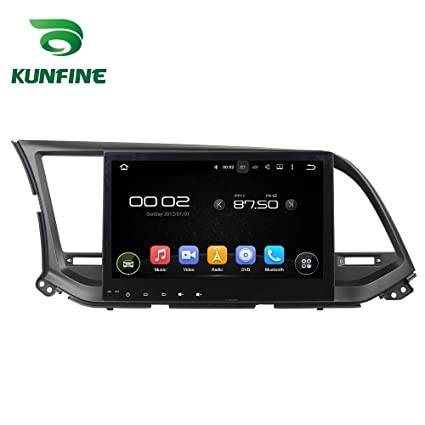 KUNFINE Android 6.0 Otca Core Car DVD GPS Navigation Multimedia Player Car Stereo For Hyundai Elantra