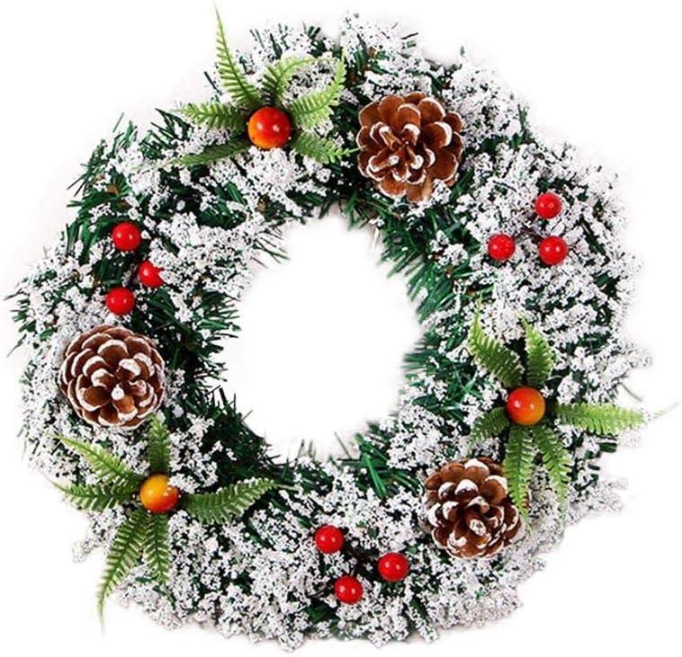 fervortop Weihnachtskranz T/ürkranz Weihnachtliche Kr/änze K/ünstlicher Kranz Weihnachtskranz Deko Mit Tannenzapfen Und Rote Beeren F/ür Hochzeitsfeier Weihnachtsbaum Dekoration