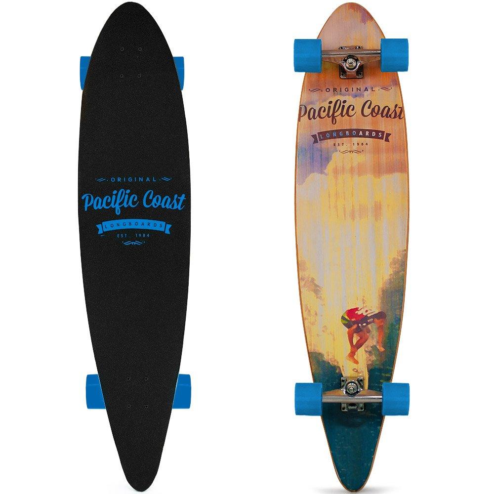 Longboard Big Wheels 41 Inch Drop-Down ABEC 9 Bearings Maple Wood Complete Deck - Offroad Evil Eye Deuba