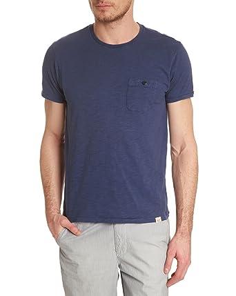 7f401d6c514cf6 WOOLRICH - T-Shirts mit Rundhalsauschnitt - Herren - Dunkelblaues T-Shirt  Redwood für