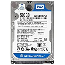 "500GB 2.5"" Western Digital Scorpio Blue 5400RPM SATA 9.5mm Notebook HD 8MB Cache"