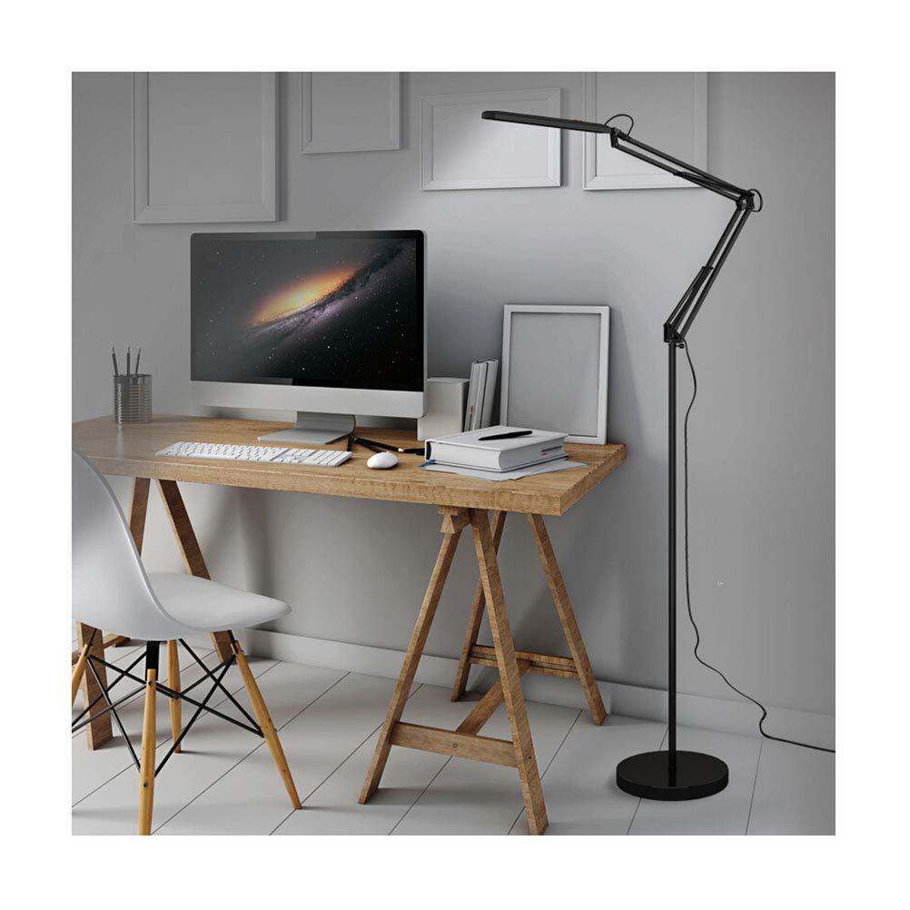 lámpara de pie con cabezal flexible