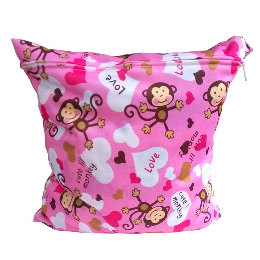 WINOMO Baby Stoff Tasche Wickeltaschen Baby Wiederverwendbar Taschen Organizer Wiederverwendbare Stoff wasserdichte Windel Tasche
