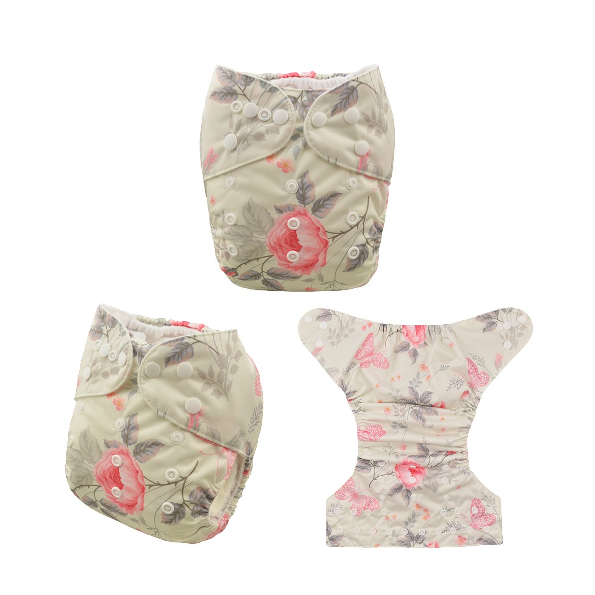 ALVABABY Cloth Diaper Pocket Washable Adjustable Reuseable Baby Nappies 6PCS+12 Inserts 6DM20-CA
