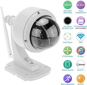 HD 1080P Wireless Dome PTZ IP Camera 2.8-12mm Auto-focus Lens Night Vision H.264