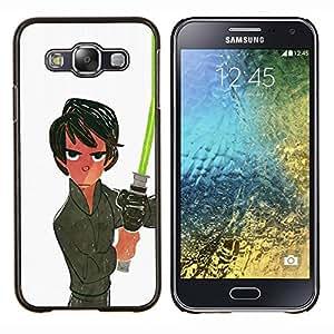 """Be-Star Único Patrón Plástico Duro Fundas Cover Cubre Hard Case Cover Para Samsung Galaxy E5 / SM-E500 ( Espacio Luz Blanca Saber Han película Sci Fi"""" )"""