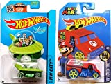 Hot Wheels Super Mario Cool One HW Screen Time & Jetsons #57 Tooned car set