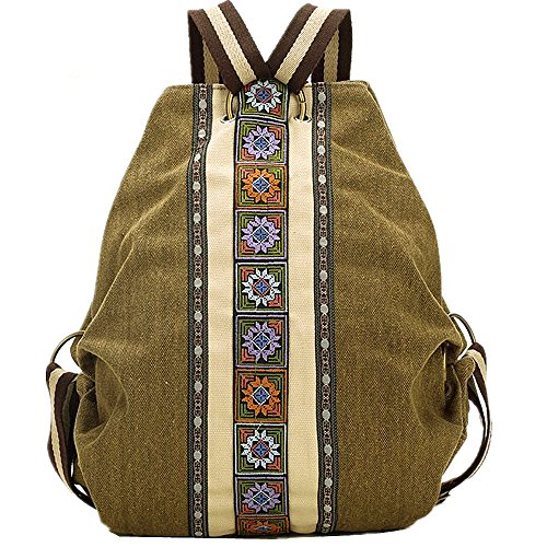 Hand Handbag Shoulder Unisex Canvas Embroidery Bag D wHAxqz10tx