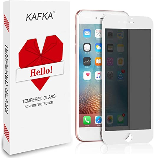 Amazon Com 2 Pack Iphone 7 Plus Iphone 8 Plus Privacy Screen Protector Edge To Edge Full Coverage Kafka Tempered Glass Screen Protector High Definition Anti Fingerprint For Iphone 7 Plus Iphone 8 Plus White