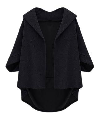 Cape Loose Warm Batwing Parka Winter Jacket Women Loose Batwing Wool Poncho Winter Warm Coat Jacket Cloak Cape Parka Outwear Sales Of Quality Assurance Women's Clothing