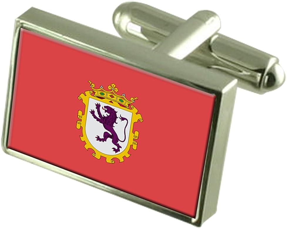 Select Gifts Leon Ciudad Bandera España Cuadro Grabado Gemelos: Amazon.es: Joyería