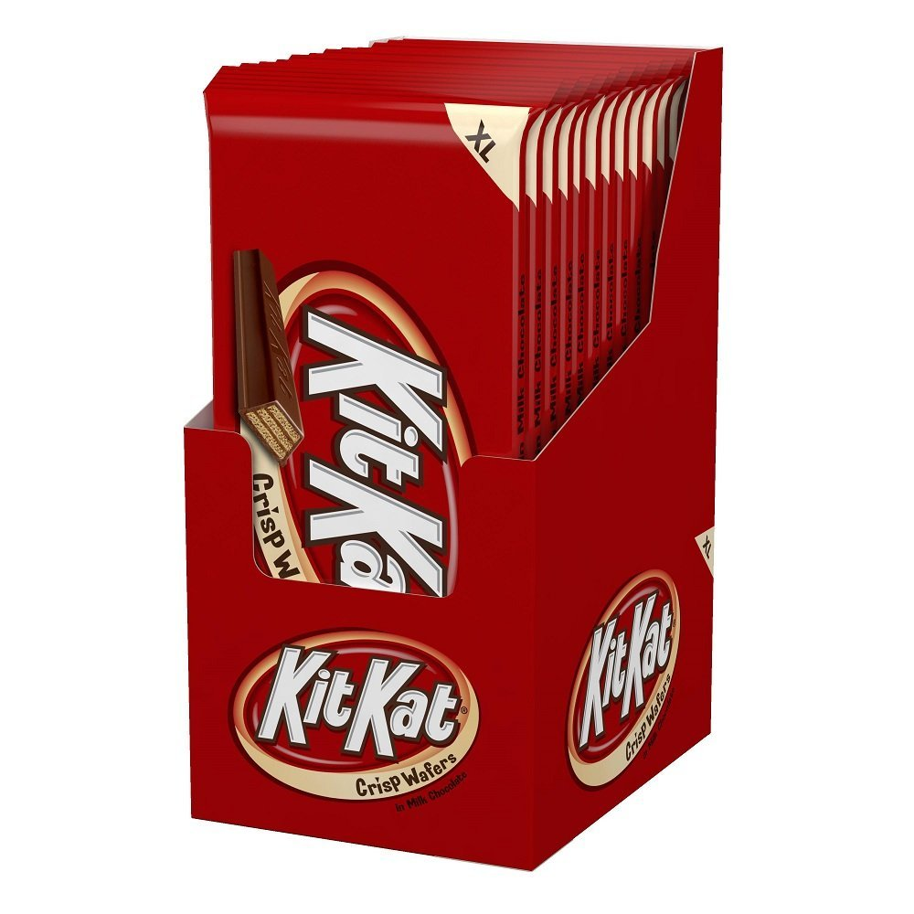 KIT KAT Candy Bar, Milk Chocolate Covered Crisp Wafers, Extra Large (4.5 Ounce) Bar (Pack of 12)