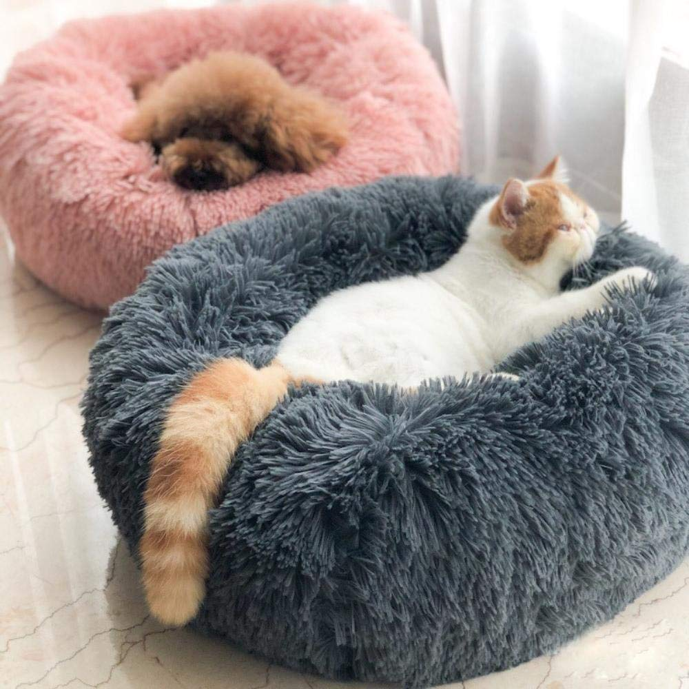Amazon.com : Hakazhi Inc Soft Fleece Pet Cat Bed House for Cats Winter Warm Cat Beds Kitten Sleeping Cushion Mascotas Gato Kedi Minderi Bed Pets Supplies ...