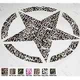 "22"" Jeep Wrangler Freedom Edition Star Hood Decal Sticker Premium Patterns (Snake Skin) by Clown Lizard Graphics"