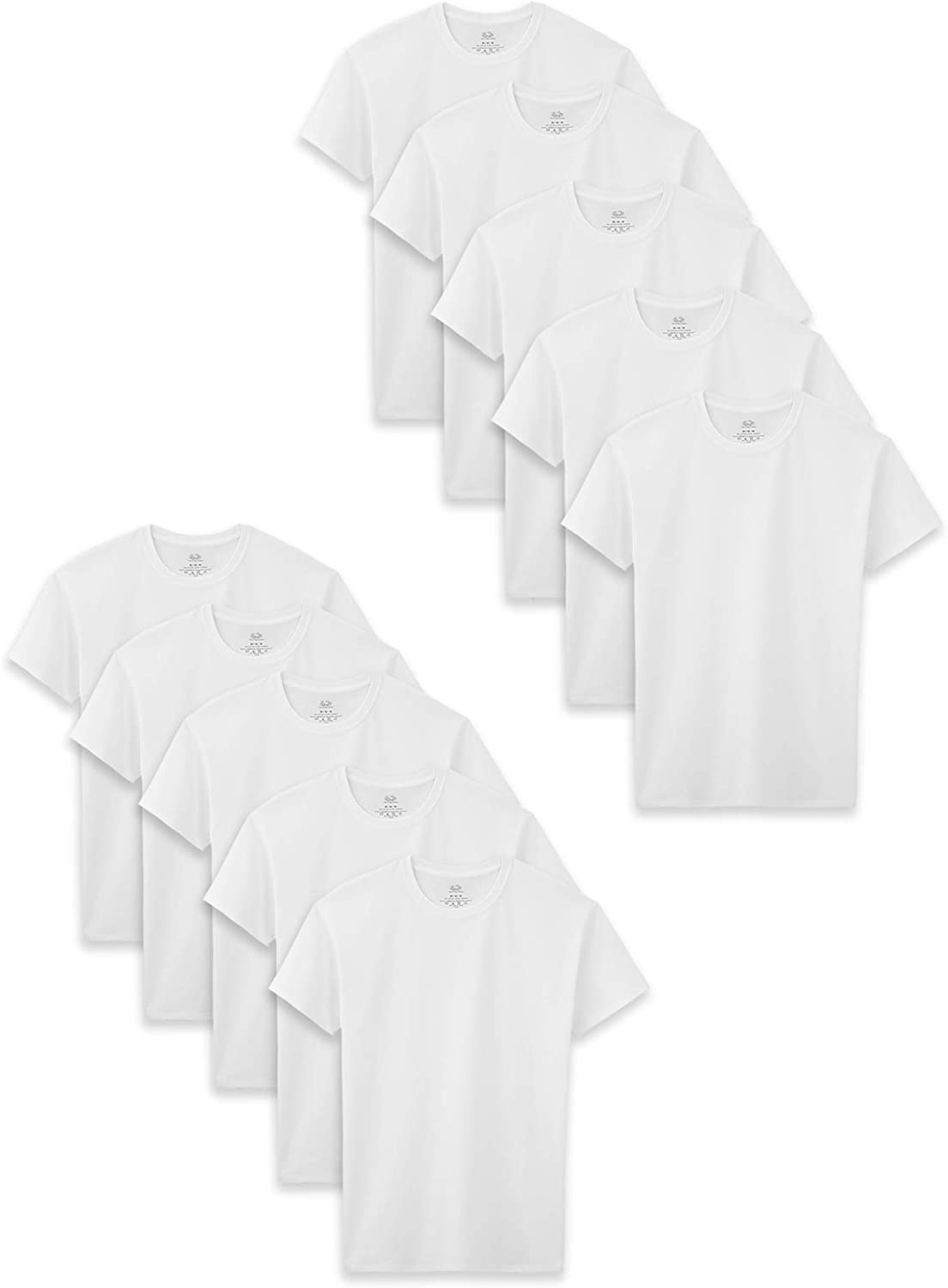 Fruit of the Loom Boys' Cotton White T Shirt: Clothing