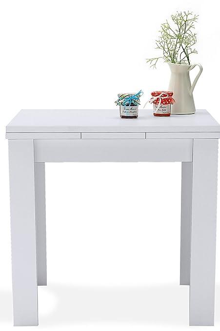 AVANTI TRENDSTORE - Merlox - Tavolo piccolo a forma quadrata, allungabile a  136 cm, in laminato disponibile in 2 diversi colori, dimensioni: LAP ...
