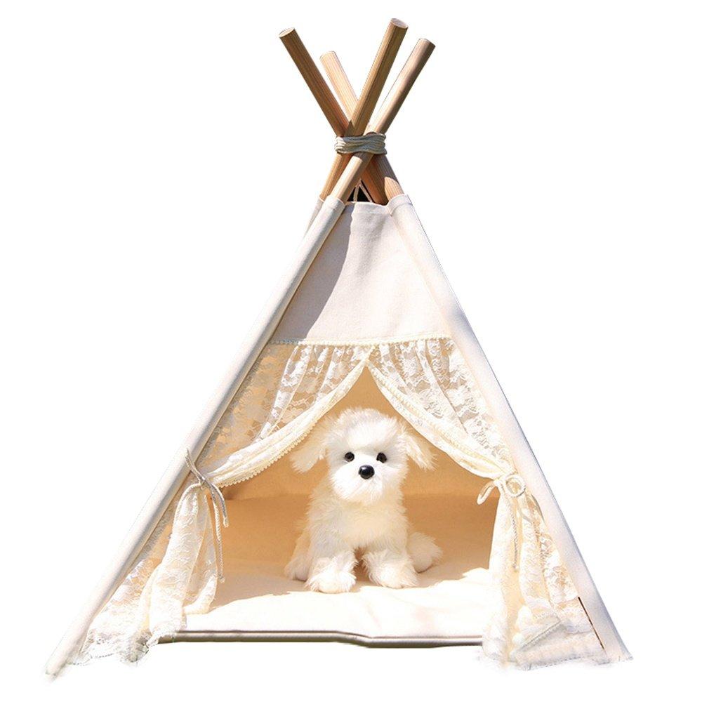 almacén al por mayor SASA Nido de Gato Perrera Perros Perros Perros pequeños y medianos Tienda Blanca para Mascotas Suministros para Perros, 60x60  A la venta con descuento del 70%.