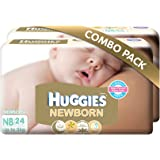 Huggies New Born Combo Pack (2 Packs, 24 Count per Pack)