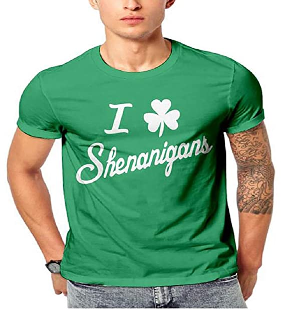2095a77cf Amazon.com: Seazoon Western Stylish Shenanigans Graphic Tee Short Sleeve  Irish Shamrock T Shirt for Men SE106 155 Green 2XL: Clothing