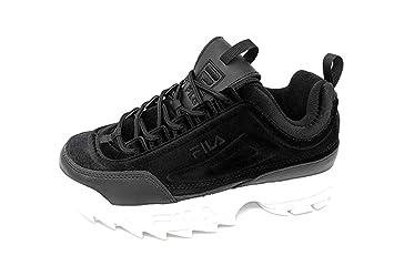 7c39a956ca58f Fila Women's Disruptor Ii Premium Black/Black/White Ankle-High Walking Shoe  -