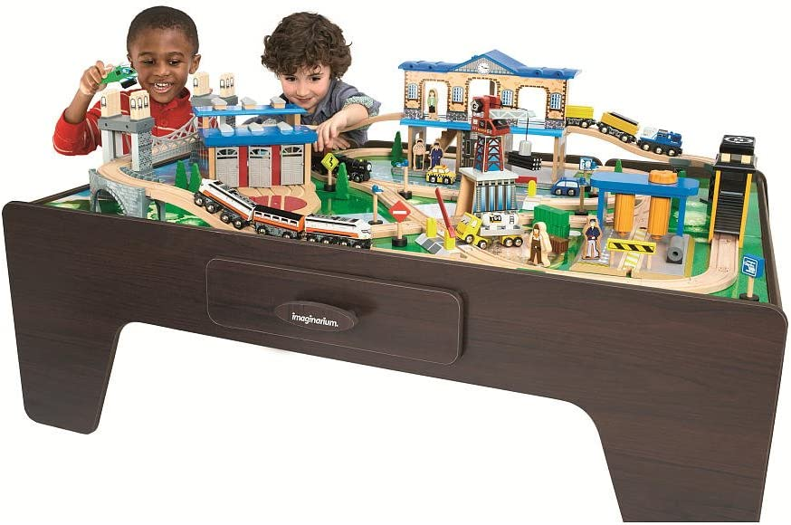 Amazon Com Imaginarium City Central Train Table Toys Games