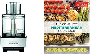 The Complete Mediterranean Cookbook: 500 Vibrant, Kitchen-Tested Recipes for Living and Eating Well Every Day & Cuisinart DFP-14BCNY 14-Cup Food Processor, Brushed Stainless Steel