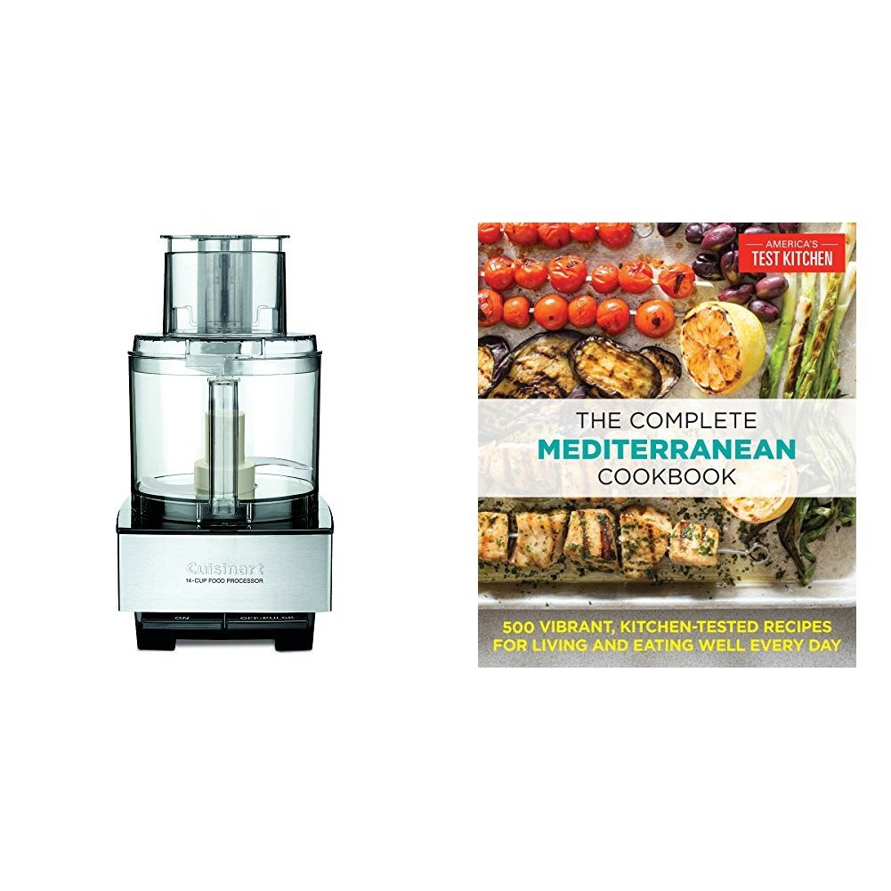 The Complete Mediterranean Cookbook: 500 Vibrant, Kitchen-Tested Recipes for Living and Eating Well Every Day & Cuisinart DFP-14BCNY 14-Cup Food Processor, Brushed Stainless Steel by