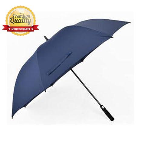 b2281591819a Golf Umbrella 60 Inch Automatic Open Extra Large Big Windproof Waterproof  Sun Rain Protection Stick Umbrella Teflon Rain Repellant