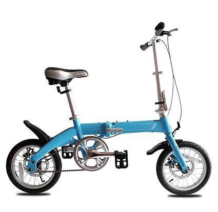 Bicicleta De Asalto 14 Pulgadas De Aluminio Para Niños Adultos Plegable Bicicleta Hombres Y Mujeres Mini