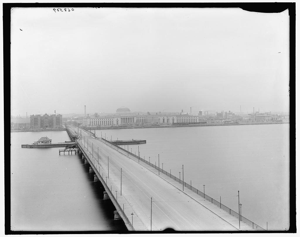 Vintography 24 x 30 Giclee Unframed Photo Harvard Bridge Massachusetts Institute Technology Cambridge Mass 1905 Detriot Publishing co. 72a